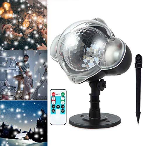 FOONEE LED Projektor Lichter Schneeflocke Projektor Lampe Indoor Outdoor Wasserdicht Schnee Fallende Landschaft Projektion Licht für Weihnachten Halloween Party Hochzeit Garten Dekorationen