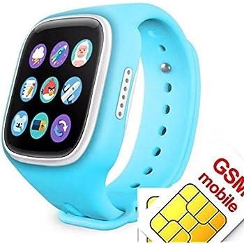 Reloj inteligente para niños con rastreador GPS para llamadas SOS, tarjeta SIM, monitor remoto