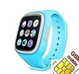 Smartwatch für Kinder, Anti-Verlust, Smartwatch mit GPS-Tracker, SOS Anruf, SIM-Karte, Fernüberwachung