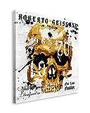 REINDERS Roberto Geissini - Golden skull - Wandbild 40 x 40 cm