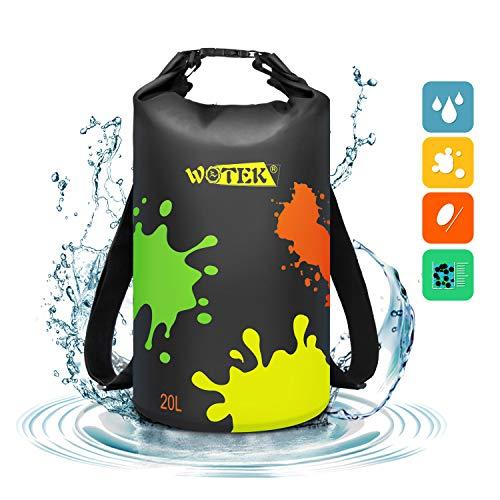 Dry Bag 20L Wasserfester Rucksack Wasserdichter Beutel Wasserdichter Packsack-Trockensack Gepolsterte Schulter Campingzubehör, Angeln, Schwimmen, Strand, Bootfahren, Wiederverwendbar Unisex MEHRWEG (Dry Rucksack Bags)