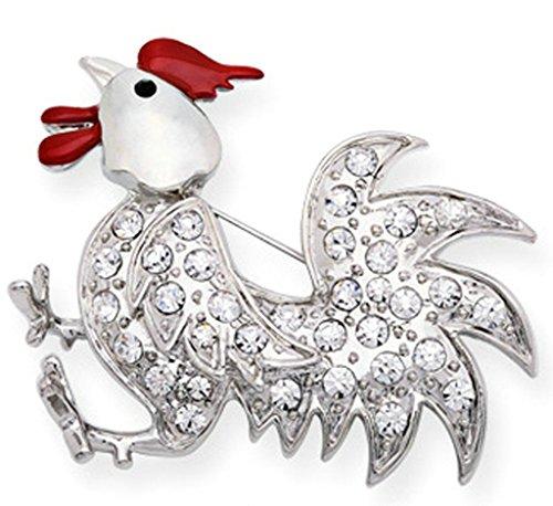 Epinki Unisex Brosche, Edelstahl Tierkreis Form Broschen Pin Abschlussball Anstecknadel Hochzeit Pins Silber (Auge Rosenkranz Pins)