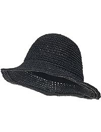 ililily Raffia Paper Big Brim Sun Hat Summer Cool Wired Floppy Hat Fedora