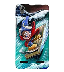 Vizagbeats skiing micky mouse Back Case Cover for Lenovo A6000 Plus