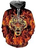 Goodstoworld 3D Tiger Sweatshirt Hoodie Geometrie Herren Damen Lustige Druck Herbst Langarm Pullover Kapuzenpullover Sport Kapuze Kleidung