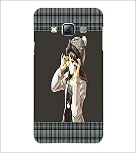 PrintDhaba Girl with Spectacles D-1323 Back Case Cover for SAMSUNG GALAXY A3 (Multi-Coloured)