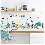 Baseboard Bunte Künstlerische Blumen Wandaufkleber Abnehmbare Wohnzimmer Schlafzimmer Hintergrund Dekoration Wandtattoo Aufkleber