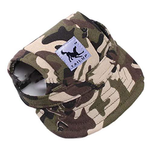 Ruiyiheng Baseballmütze für Hunde und Welpen, Schirmmütze, Sonnenmütze für den Außenbereich, Sommer, Hut, für Zuhause, Dekoration - Camo-m