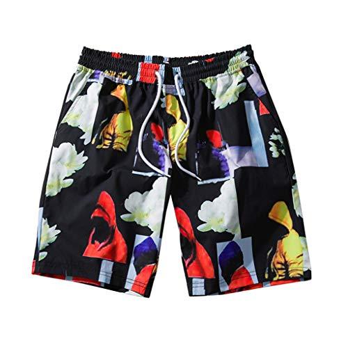 Sommer Herren Lustig Print Hawaiian Shirt und Shorts Sets Lässige Kurzarm-T-Shirts mit Strandhosen-Outfits Urlaub Kleidung Button Hawaii Aloha Kleidung S-XXL
