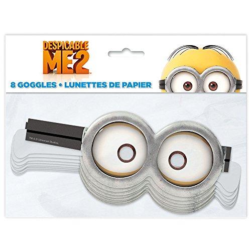 8 Stk. Minions Papierbrillen für Geburtstag und Party