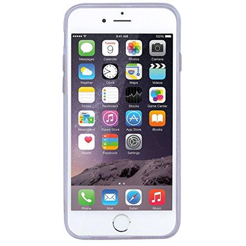 HB-Int Handyhülle für iPhone 6 / 6S Transparent Silikon Schutzhülle TPU Bumper Case Durchsichtig Handytasche Glitzer Flüssig Schutz Hülle Etui Tasche Herz - Gelb Bunt