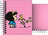 Grafoplás 16531949-Cuaderno Tapa Dura A7, Diseño Mafalda Pajarito, 100 hojas cuadriculadas