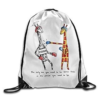 pants hats Cool Drawstring Backpack Cute Giraffe Art Design Print Drawstring Backpack Rucksack Shoulder Bags Gym Bag Giraffe 25