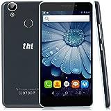 THL T9 PRO - 4G/3G/2G Smartphone Android 6.0 Pantalla 5.5'' IPS, MT6737 64bit 1.3GHz Quad-Core, 2G Ram, 16G Rom, Doble sim tarjetas y doble cameras, 360°Huella digital (Negro)