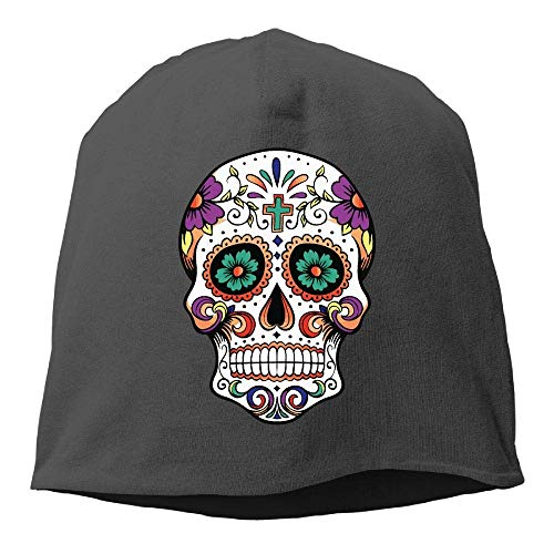 jingqi Men's and Women's Breathable Knit Cap, Sugar Skull Skull Cap for Mens & Womens