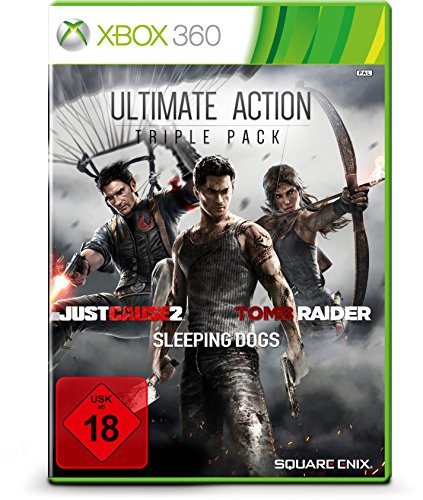 360 Xbox Mystery-spiele Für (Ultimate Action Triple Pack - Tomb Raider, Just Cause 2, Sleeping Dogs)