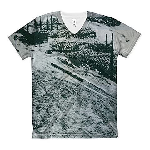 T-Shirt with 1945 Nagasaki as leveled by atomic bombs.Nagasaki Road lies amid ashes of the Industrial section of the City while numerous smokestacks still stand despite the Atomic bombing.