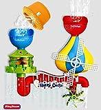 Steerfr Baby-Badespielzeug, Waterfall-Wasserstation mit 5 stapelbaren Bechern, die die Denkfähigkeit und Kreativität von Babys fördern