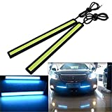 #2: DELHITRADERSS Ice Blue Waterproof COB Car LED Fog Light 12V DRL Daytime Running Lamp