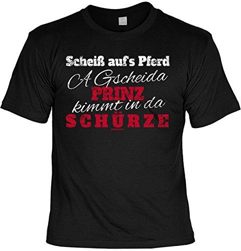 cooles Geschenk T-Shirt für den Koch Hobbykoch Geburtstagsgeschenk Geburtstag Papa Mama Weihnachten Mitbringsel Sprüche Schwarz