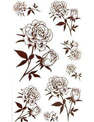 Tatouages temporaires imperméables tatouage temporaire SPESTYLE imperméable non - toxique de Rose noire