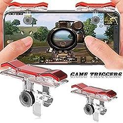 HOC Red Metal PUBG Game Trigger/Joystick Compatible for INFOCUS M812||Sensitive Shoot/aim Buttons L1 R1 Trigger Mobile Game Controller
