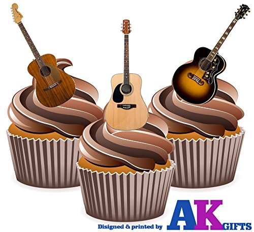 acoustic-guitars-cake-decorations-12-edible-wafer-cup-cake-toppers