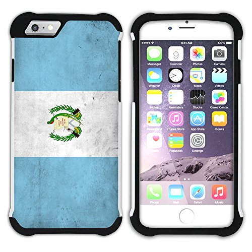 Graphic4You Vintage Uralt Flagge Von Bolivien Bolivianer Design Hart + Weiche Kratzfeste Hülle Case Schale Tasche Schutzhülle für Apple iPhone 6 / 6S Guatemala Guatemalteke