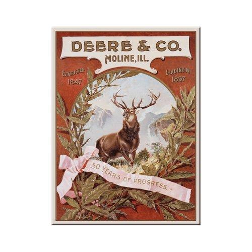 John Deere Magnet (Nostalgic-Art 14202 John Deere und Co., Magnet, 8 x 6 cm)
