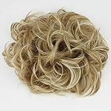 Prettyshop XXXL Haarteil Haargummi Hochsteckfrisuren, VOLUMINÖS, gelockter, unordentlicher Dutt blond mix # 27H613 HW33