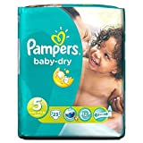 Pampers Baby Dry Taille 5 Junior 11-25kg (23) - Paquet de 6