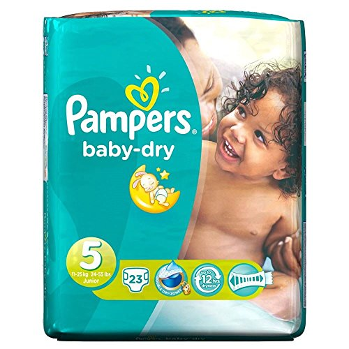 Pampers Baby Dry Size 5 (11-25kg) Junior x 23 per pack