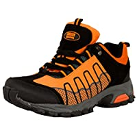 GUGGEN Mountain Women Hiking Boots Softshell Trekking Shoes Climbing Mountaineering Mountain Outdoor T002, Colour Orange, UK 6