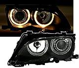 AD Tuning GmbH & Co. KG Angel Eyes Scheinwerfer Set, Klarglas Schwarz, mit Standlichtringe