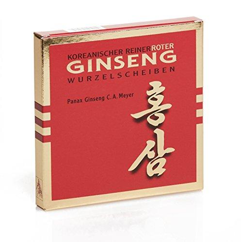 Ginseng Lebensmittel (Koreanischer Reiner Roter Ginseng - Wurzelscheiben - Monatskur, 30 g)