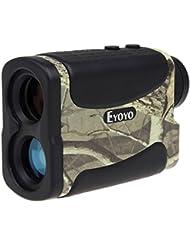 Eyoyo Télémètre de Golf et Chasse Télescope Monoculaire 5-700 Yard Imperméable à l'eau 6x Multifonction RangeFinder Mesureur de Distance et Vitesse avec Fonction de télémétrie, scan, verrou de mât du drapeau, brouillard et vitesse ( Camouflage )