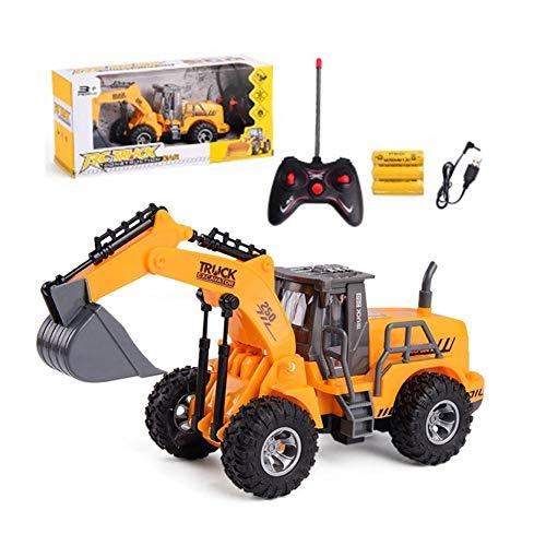 Rc Bagger Ferngesteuert RC Bagger 6 Kanal Bagger Spielzeug, Traktor Bagger RC Toys Autos Ferngesteuertes Fahrzeug Junge Elektrisches Vorbildliches Spielzeug