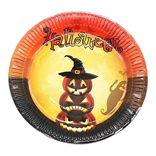 10 Stücke Kürbis Hexe Dinner Dish Einweg Luncheon Pappteller Für Halloween Happy Birthday Party Supplies Geschirr Dekoration, Stil 2