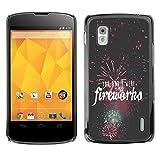 FJCases Fuegos Artificiales Celebración Carcasa Funda Rigida para LG Nexus 4