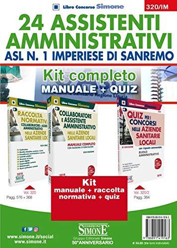24 assistenti amministrativi ASL n. 1 Imperiese di Sanremo. Kit completo. Manuale + Quiz