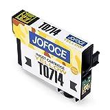 Jofoce Tintenpatrone für EPSON T0711 T0712 T0713 T0714 T0715 Druckerpatrone, Kompatibel mit Epson Stylus Office BX300F BX310FN BX610FW, Stylus SX115 SX215 DX8400 SX218 SX515W SX200 DX7400 Drucker Test