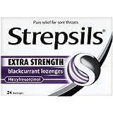 Strepsils Lozenges Extra Blackcurrant 24