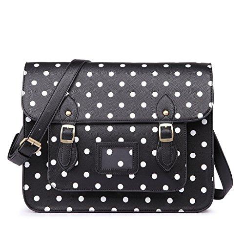 miss-lulu-marca-vintage-a-pois-in-finta-pelle-lavoro-ventiquattrore-borsa-sacchetto-di-scuola-borsa-
