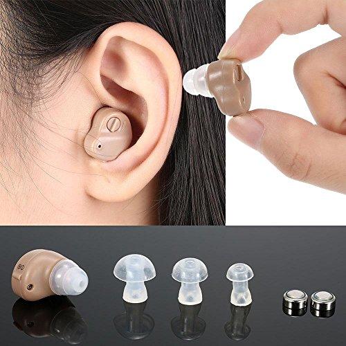 XYLUCKY Super Mini Hörgeräte Einstellbare Ton Hörgerät Klein Im Ohr Unsichtbar Beste Klangverstärker Ohrpflege-Tools