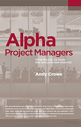 Portada del libro Alpha Project Managers: What the Top 2% Know That Everyone Else Does Not by Andy Crowe PMP PgMP (2016-02-15)
