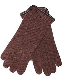 30b0208718b01b EEM Herren Strick Handschuhe SÖREN aus 100% gekämmter Schurwolle mit  ledernem Saum, modisch,