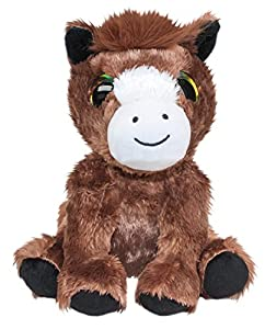 LUMO STARS Pony Reino Animales de Juguete Felpa Marrón, Blanco - Juguetes de Peluche (Animales de Juguete, Marrón, Blanco, Felpa, 3 año(s), Pony, Niño/niña)