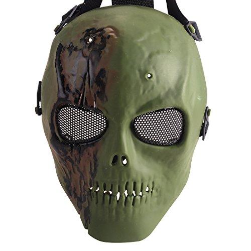 Coofit Ghost Skull Airsoft Paintball Maske militärische Vollschutz Halloween-Kostüm (Style 5) (Halloween Easy-kostüme Für Einzigartige)