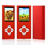 from ES Traders MP3 Player Music Media ES Traders 8GB With Radio, Voice Recorder, Games 4th Generation Model 8GB MP3-Red