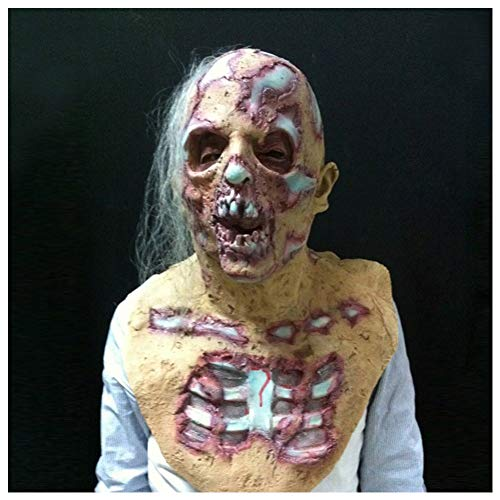 Abilie Halloween-Requisite Walking Dead Latex-Maske voller Kopf Horror Zombie Masken Kostüm Party Dekoration